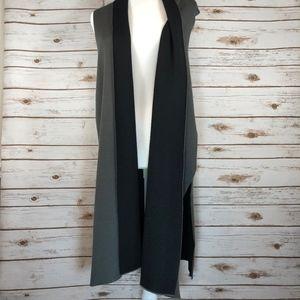 August Silk Long Grey & Black Vest
